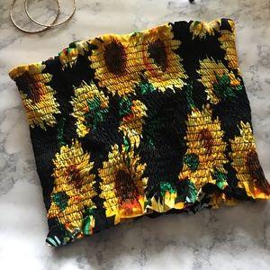Tops - Sun flower tube top